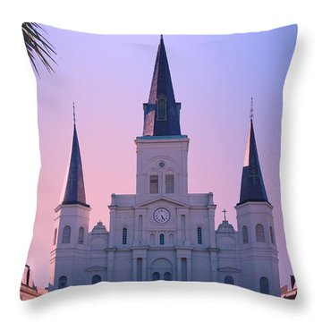 St Louis Cathedral Church At Sunrise Throw Pillow