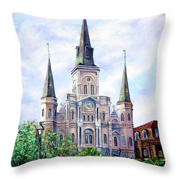 St. Louis Cathedral Throw Pillow