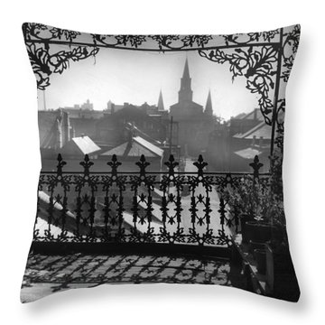 St Louis Cathedral In Frame Throw Pillow