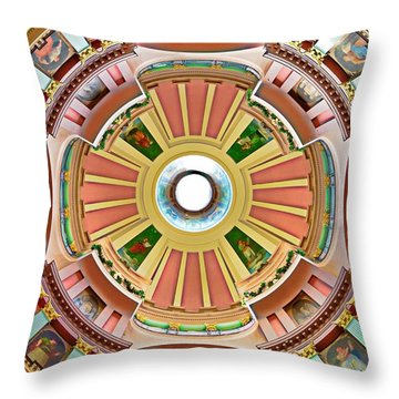 St Louis Old Courthouse Dome Throw Pillow