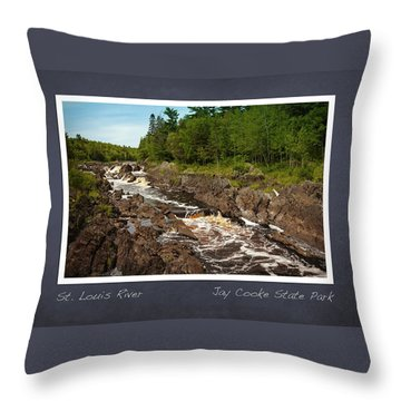 Throw Pillow featuring the photograph St Louis River Poster 2 by Heidi Hermes