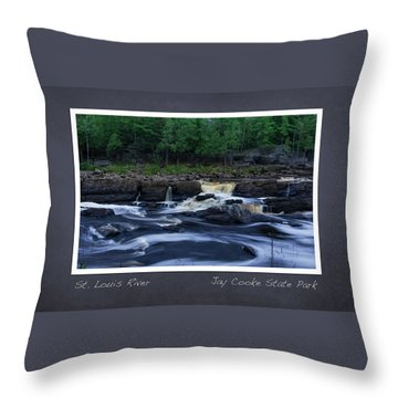 Throw Pillow featuring the photograph St Louis River Scrapbook Page 1 by Heidi Hermes