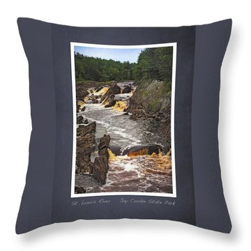 Throw Pillow featuring the photograph St Louis River Scrapbook Page 3 by Heidi Hermes