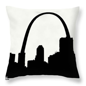 St Louis Silhouette With Boats 2 Throw Pillow