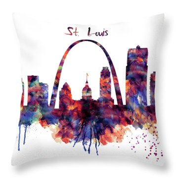 St Louis Skyline Throw Pillow