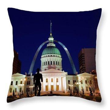 St. Louis Throw Pillow by Steve Stuller
