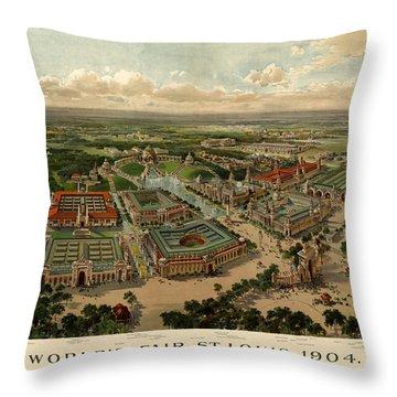 St. Louis Worlds Fair 1904 Throw Pillow