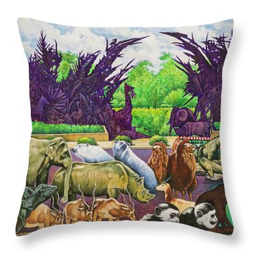 St. Louis Zoo Throw Pillow