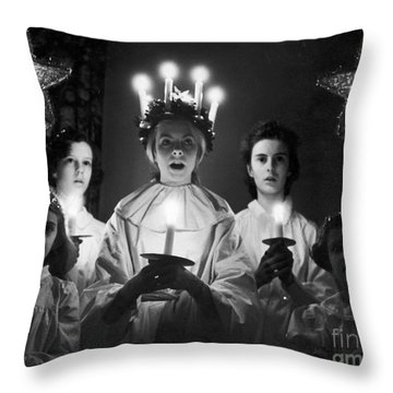 St. Lucia Day Throw Pillow by Granger