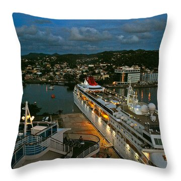 St. Lucia In The Evening Throw Pillow