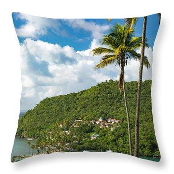 St Lucia - Marigot Bay II Throw Pillow
