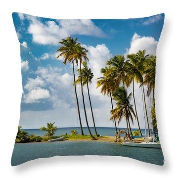 St Lucia - Marigot Bay IIi Throw Pillow