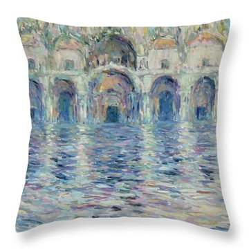 st-Marco square- Venice Throw Pillow by Pierre Van Dijk