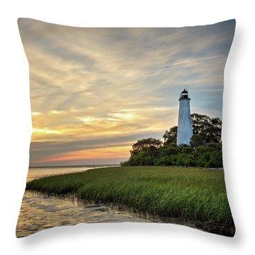 St. Mark's Lighthouse Throw Pillow