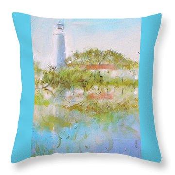 St Marks Lighthouse Throw Pillow