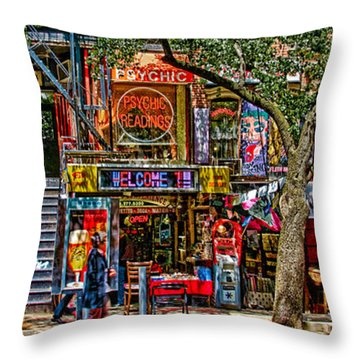 Throw Pillow featuring the photograph St Marks Place by Chris Lord