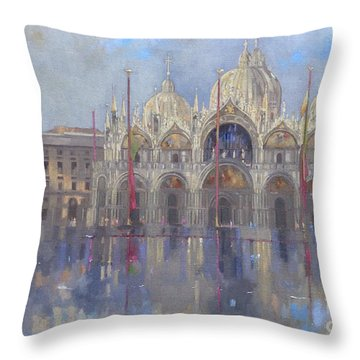 St Mark's -venice Throw Pillow by Peter Miller