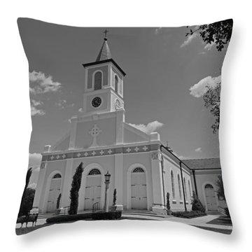 St. Martinville Church Throw Pillow