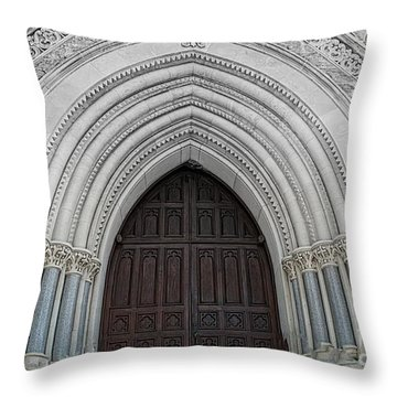 St. Mary Cathedral- Austin Texas Throw Pillow