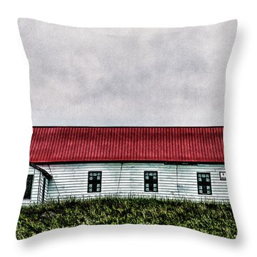 Throw Pillow featuring the photograph St. Mary Church, Babb, Mt by Joe Paul