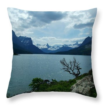 St Mary Lake, Incoming Storm Throw Pillow