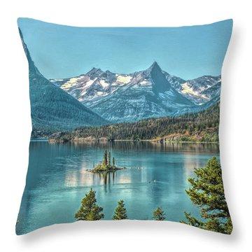 St Mary Lake Throw Pillow
