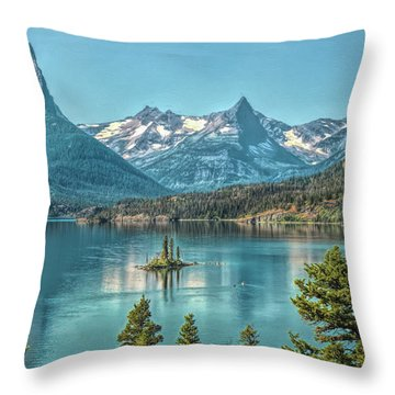 St Mary Lake Throw Pillow