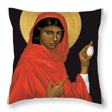 St. Mary Magdalene - Rlmam Throw Pillow