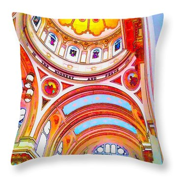 St. Mary Of The Angels 1 Throw Pillow by Dave Luebbert