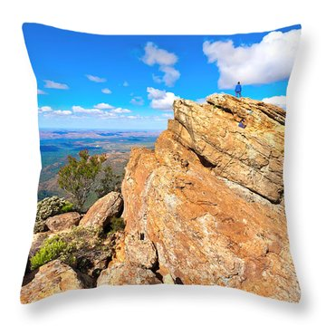 St Mary Peak Throw Pillow by Bill  Robinson