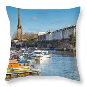 St Mary Redcliffe Church, Bristol Throw Pillow
