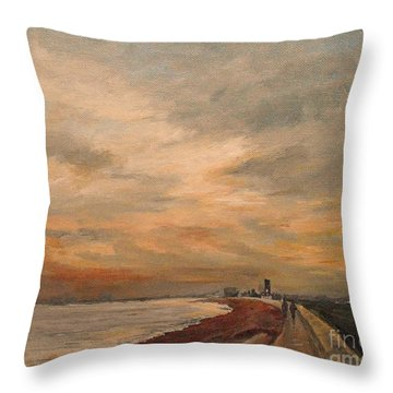 St Mary's Bay Kent Uk Throw Pillow