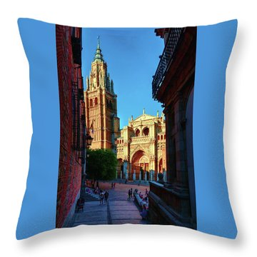 St Mary's Cathedral - Catholic Cathedral In Toledo, Chair Of The Primate Of Spain, The Main Cathedra Throw Pillow