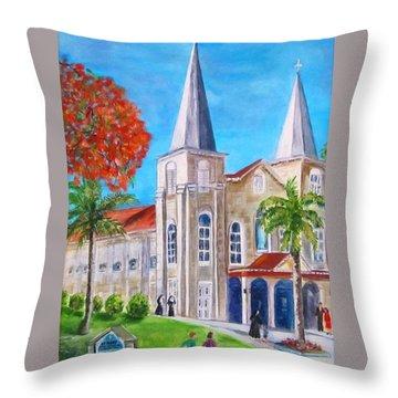 St. Mary's Catholic Church Key West Throw Pillow