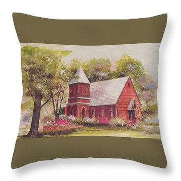 St. Mary's Chapel Throw Pillow by Charles Roy Smith