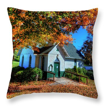 St Mary's Church Throw Pillow by Dale R Carlson