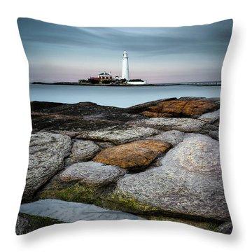 St Mary's Lighthouse Throw Pillow