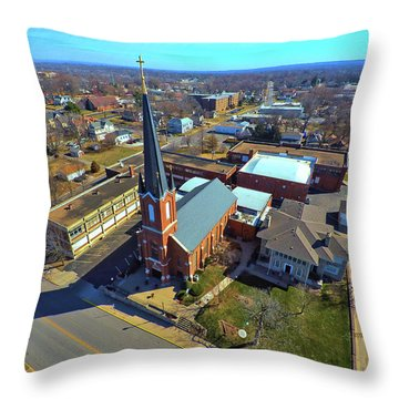St. Marys Throw Pillow by Dave Luebbert