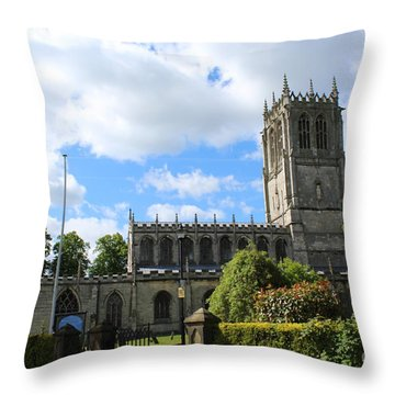 St. Mary's,tickhill Throw Pillow
