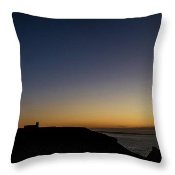 St. Materiana's Church, Tintagel Throw Pillow