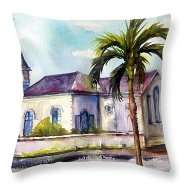 St. Matthews Church, Nassau Throw Pillow