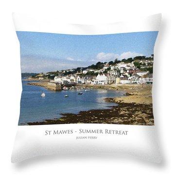 St Mawes - Summer Retreat Throw Pillow