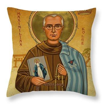St. Maximilian Kolbe - Jckol Throw Pillow