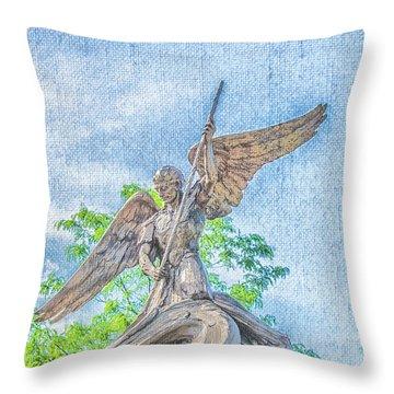 St Michael The Archangel Throw Pillow