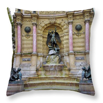 St. Michael's Fountain Throw Pillow