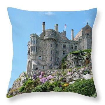 St Michael's Mount Castle Throw Pillow