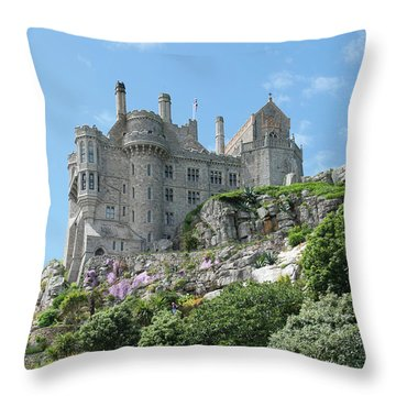 St Michael's Mount Castle II Throw Pillow by Helen Northcott