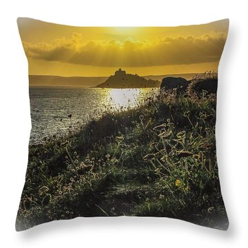 St Michaels Mount  Throw Pillow