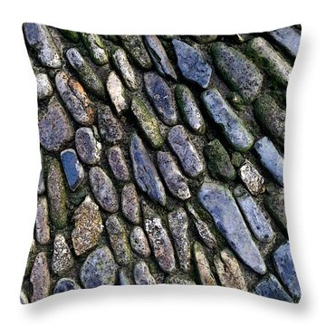Throw Pillow featuring the digital art St Michael's Path by Julian Perry