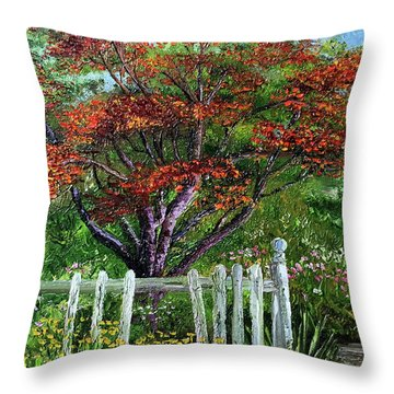 St. Michael's Tree Throw Pillow